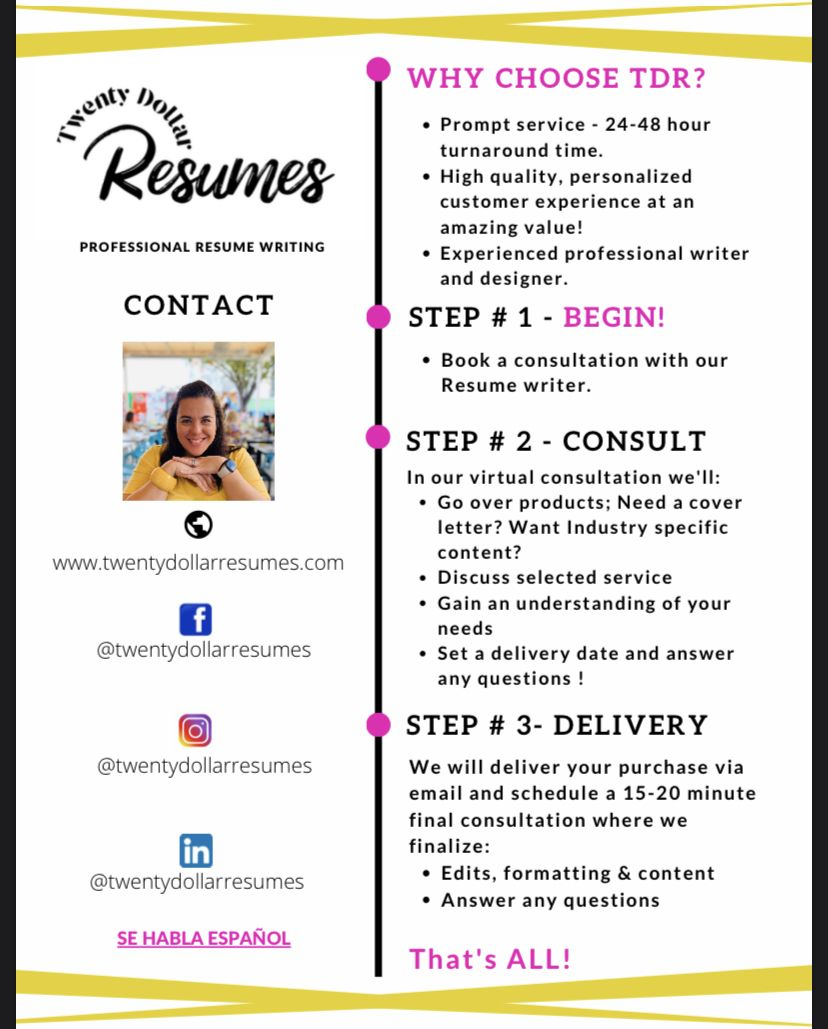 How to get started with our service in 2020 resume
