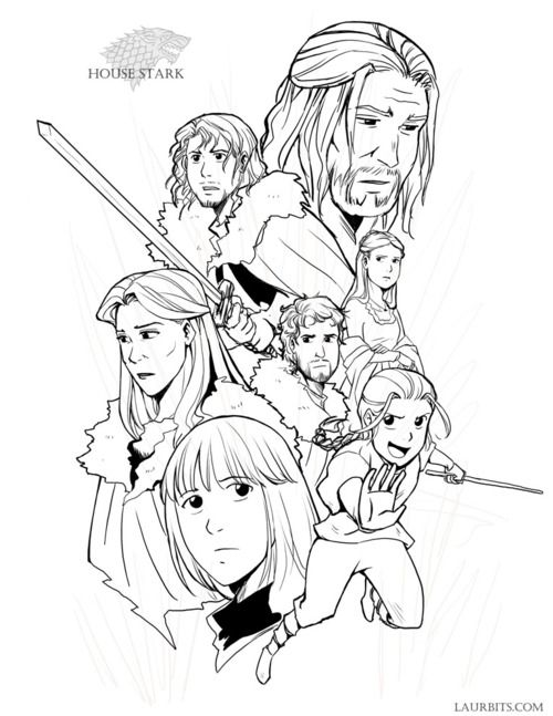 Game Of Thrones Animestyle Coloring Sheets Pages For Rhpinterest: Anime Style Coloring Pages At Baymontmadison.com