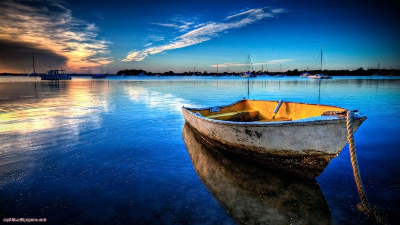 My Hd Wallpapers Http Www My Hd Wallpapers Com Scenery Background Scenery Wallpaper Old Boats Wallpaper sunset sea boat sky coast