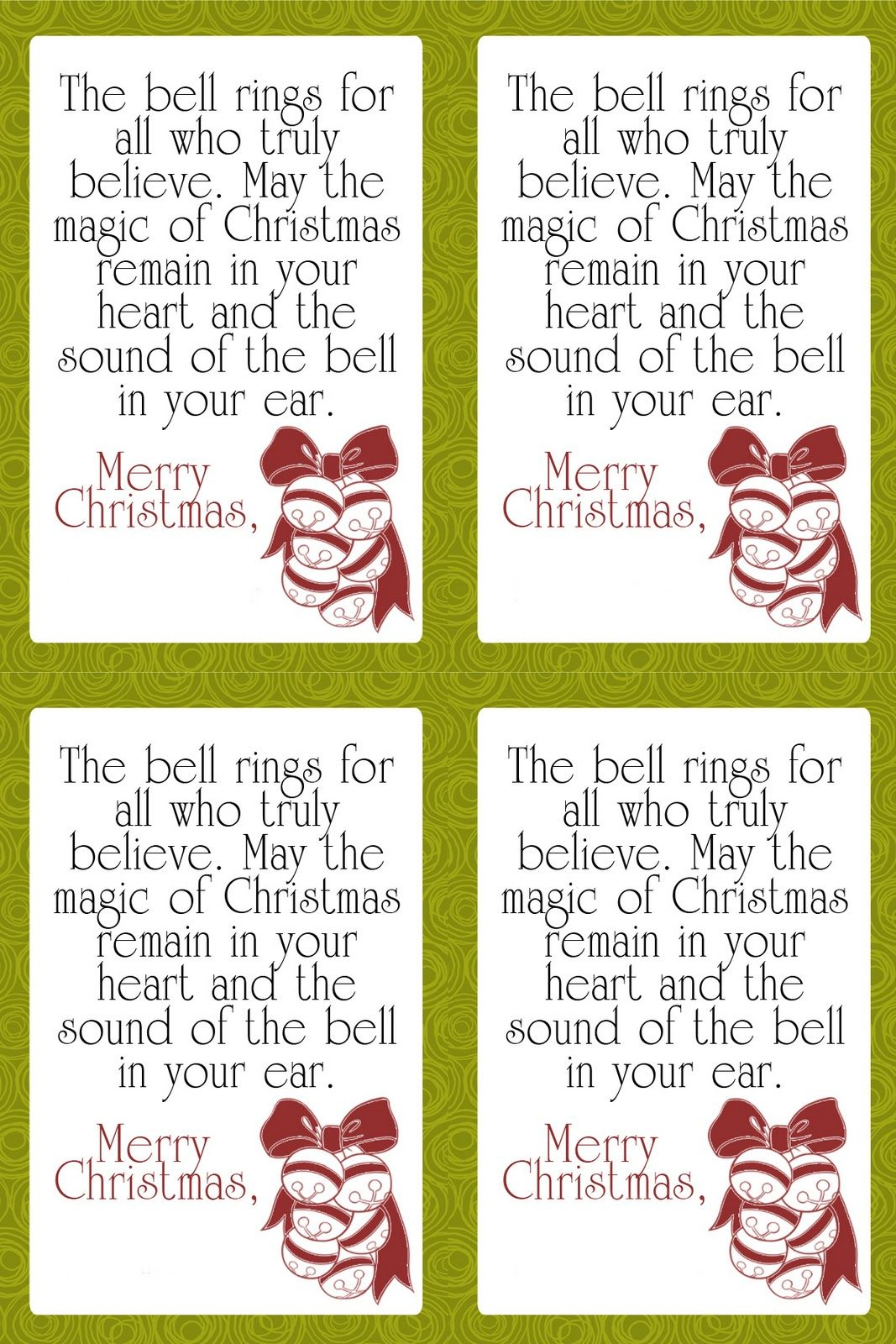 It Works For Bobbi Free Friday Cute Sleigh Bell Neighbor T Tags