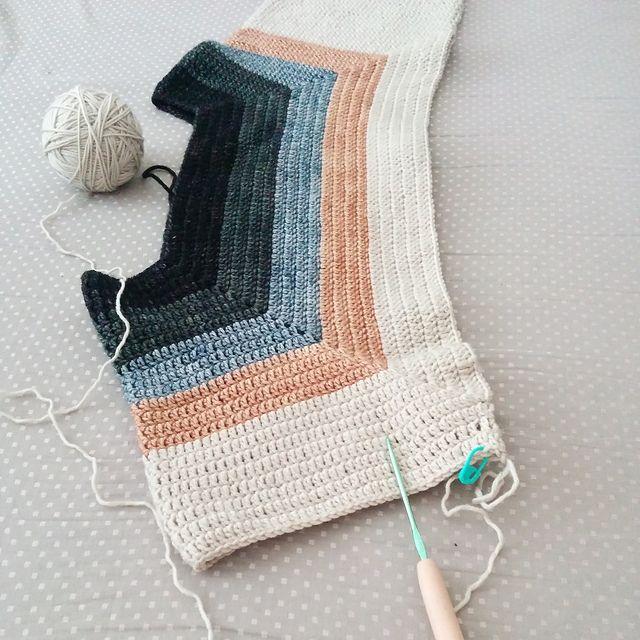 Relaxed Crochet Sweater pattern by Judit Hummel