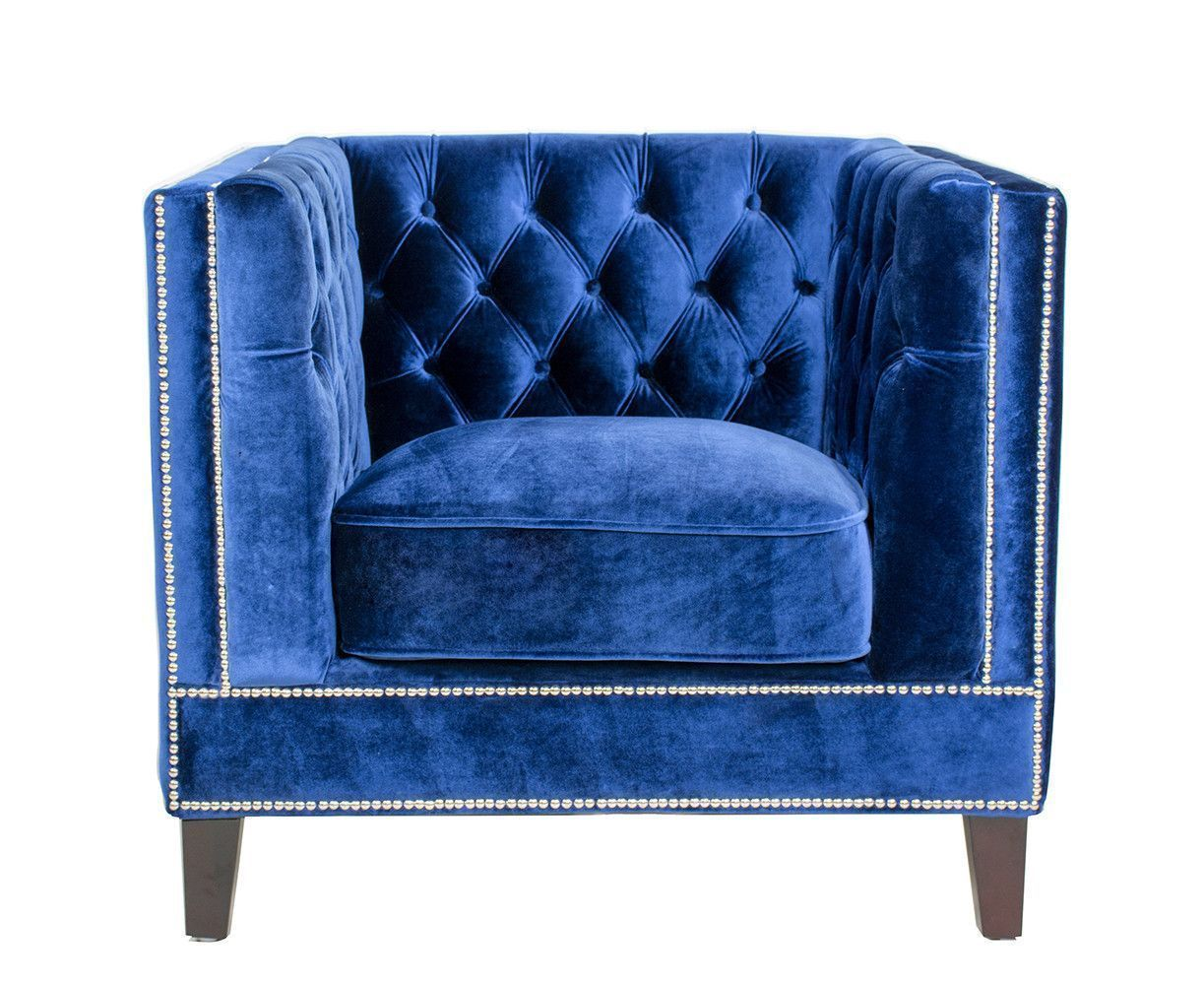 Etonnant Chic Royal Navy Velvet Chair #VelvetChair Blue Velvet, Navy Velvet Chair, Velvet  Chairs