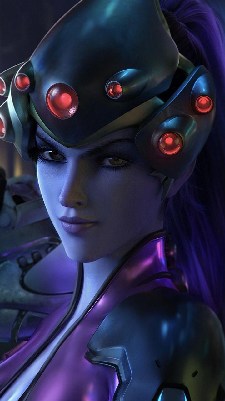 Widow maker, sniper, video game, Overwatch, 720x1280