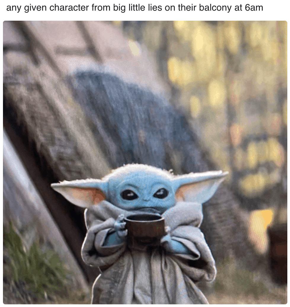 Baby Yoda Sipping Soup Memes Themandalorian Starwars Babyyoda Triple Goddess Yoda Sticker Yoda