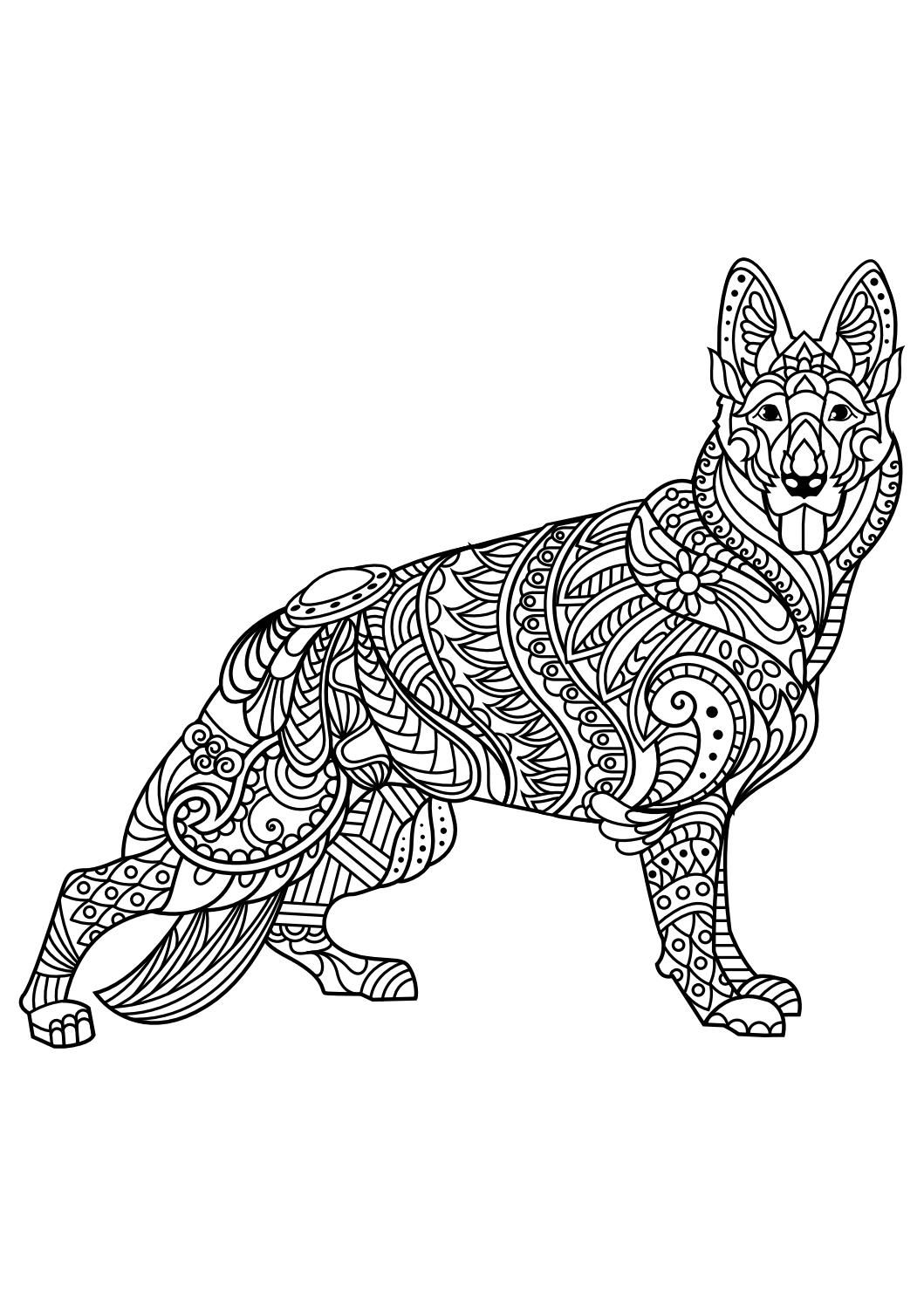 animal coloring pages pdf coloring animals free adult coloring pages dog coloring page. Black Bedroom Furniture Sets. Home Design Ideas