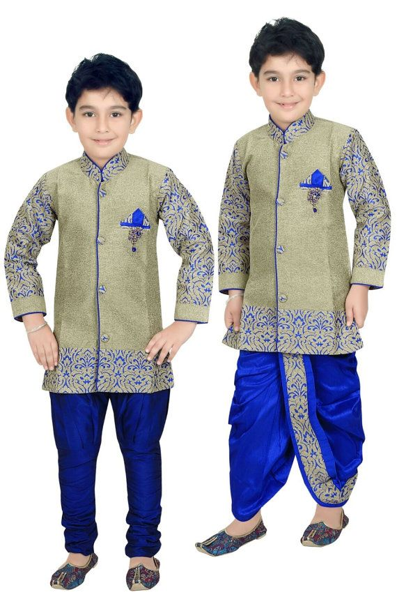 c31566f06b Kids Boys Ethnic Indian Pakistani Sherwani by VarshiniCollections Mehndi  Dress For Boys, Kid Outfits,