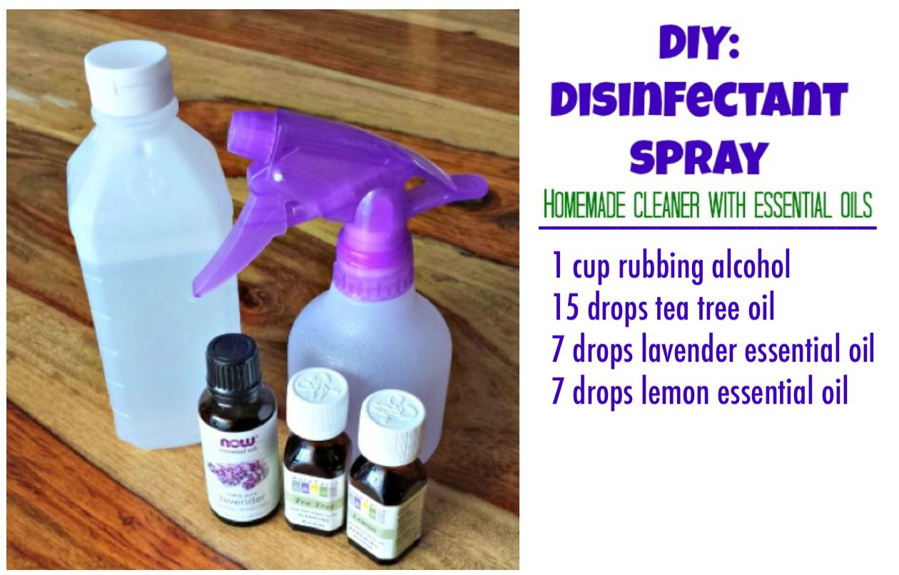 Diy Homemade Disinfectant Spray With Essential Oils Disinfectant