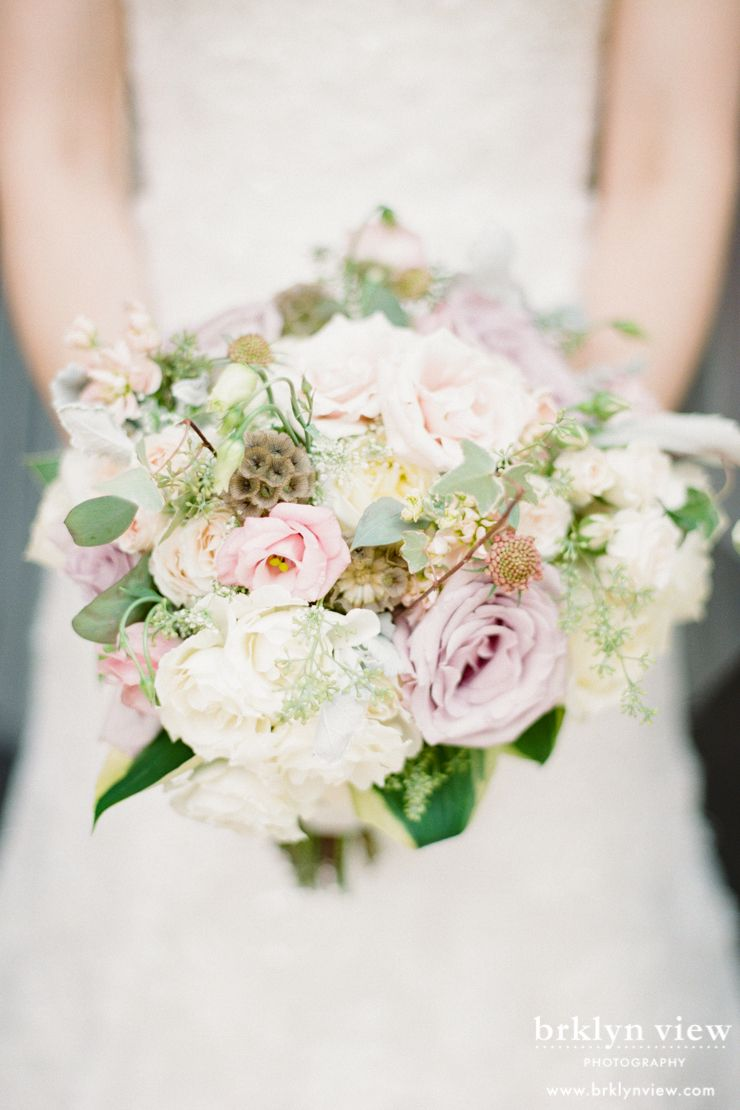 Light Lovely White Pink And Green Wedding Bouquet At Snug Harbor