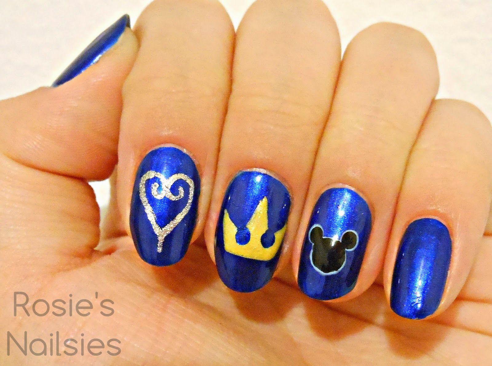 kingdom hearts nails - Google Search | fun | Pinterest | Makeup ...