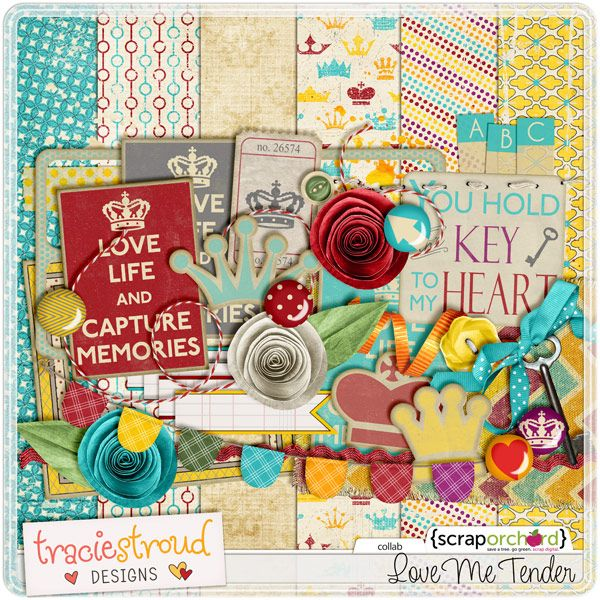 Digital Scrapbook Kit - Love Me Tender | Tracie Stroud