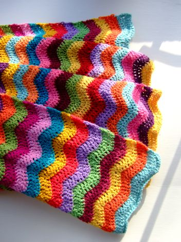Awesome #crochet ripple afghan.