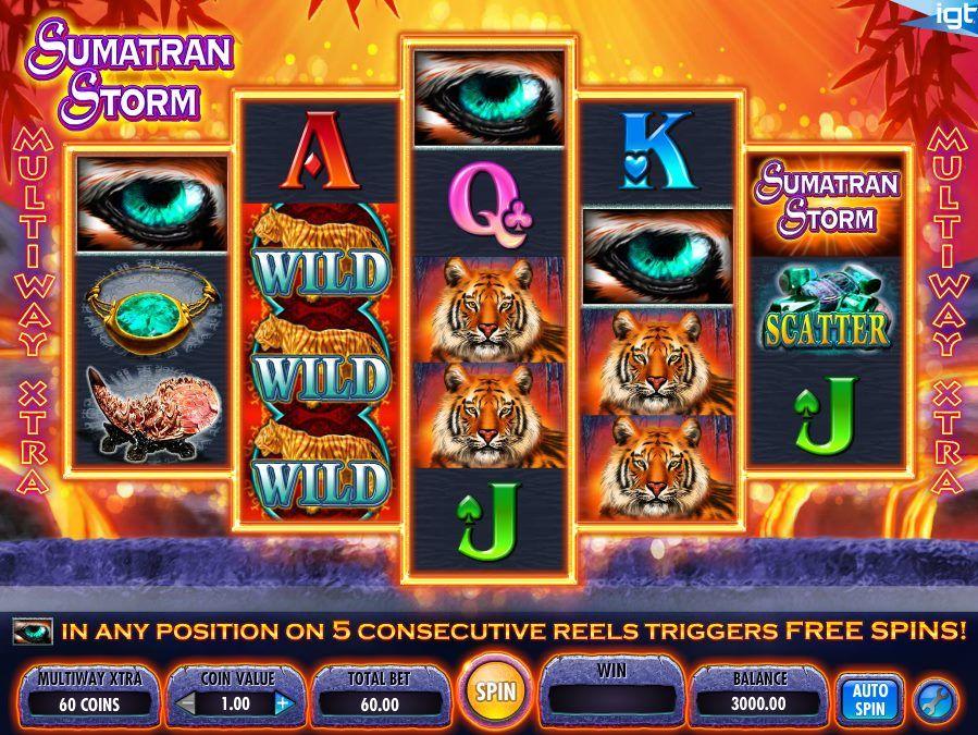 Sumatran Storm IGT Slots Flash card games
