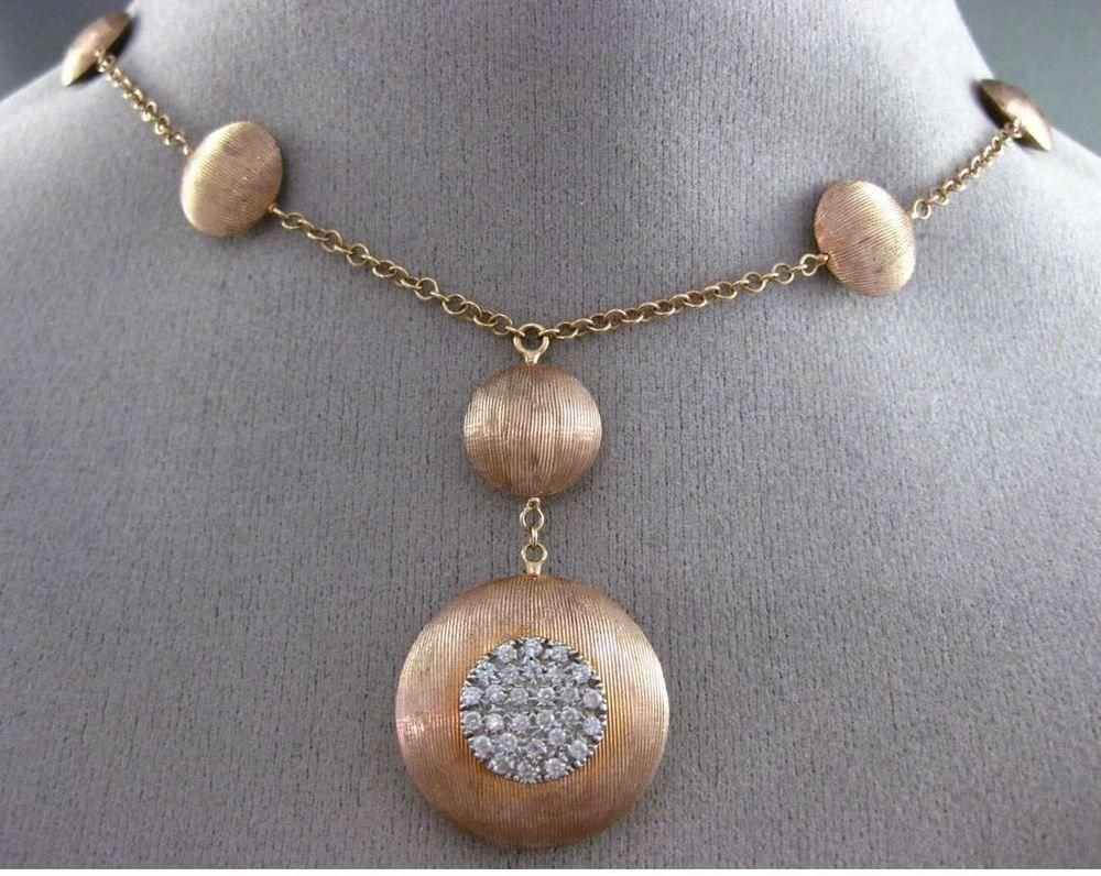 Estate large ct diamond kt white u rose gold cluster circle