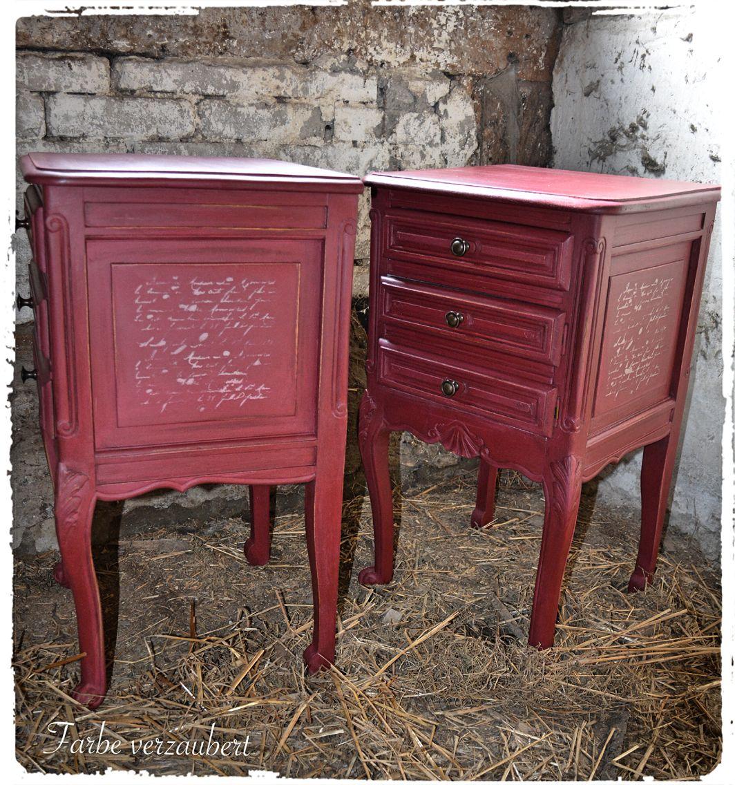 Burgundy Annie Sloan Chalk Paint Painted Furniture Chalk Paint Furniture Paint Furniture