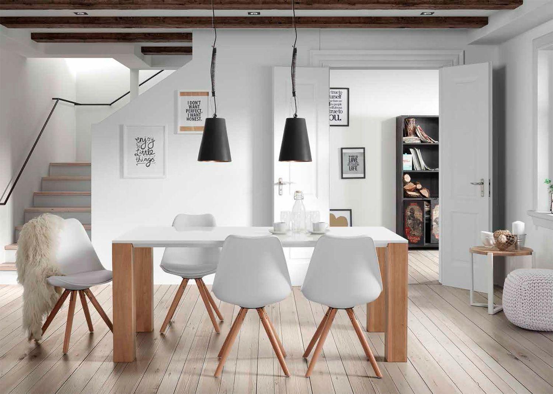 Comedor nordico zuni estilo escandinavo decoraci n de for Mesas y sillas de cocina de diseno