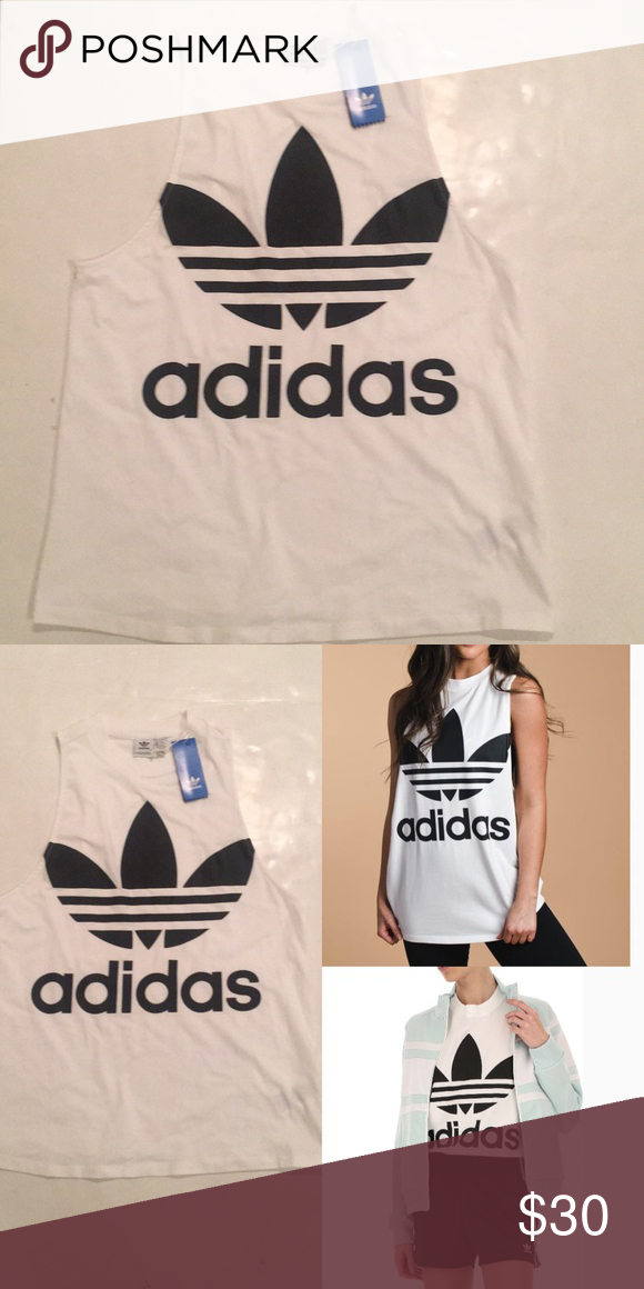 Adidas Originals Trefoil Tank White Nwt My Posh Closet Pinterest