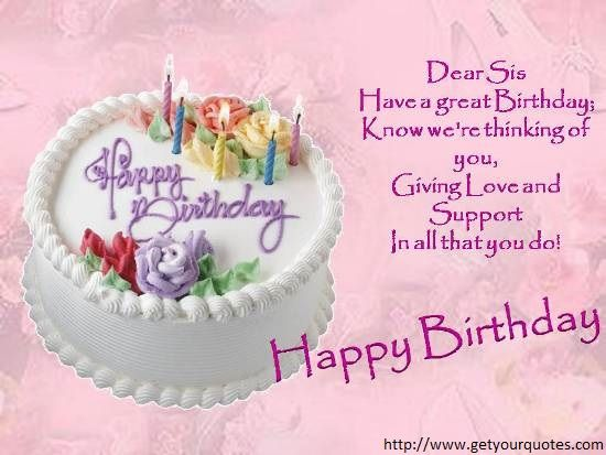 Birthday Messages For A Sister – Greetings Birthday Wishes