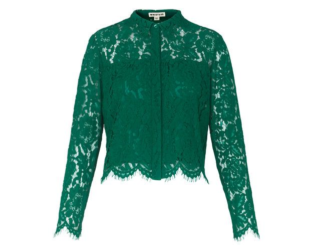 Chay Lace Shirt, in Green on Whistles