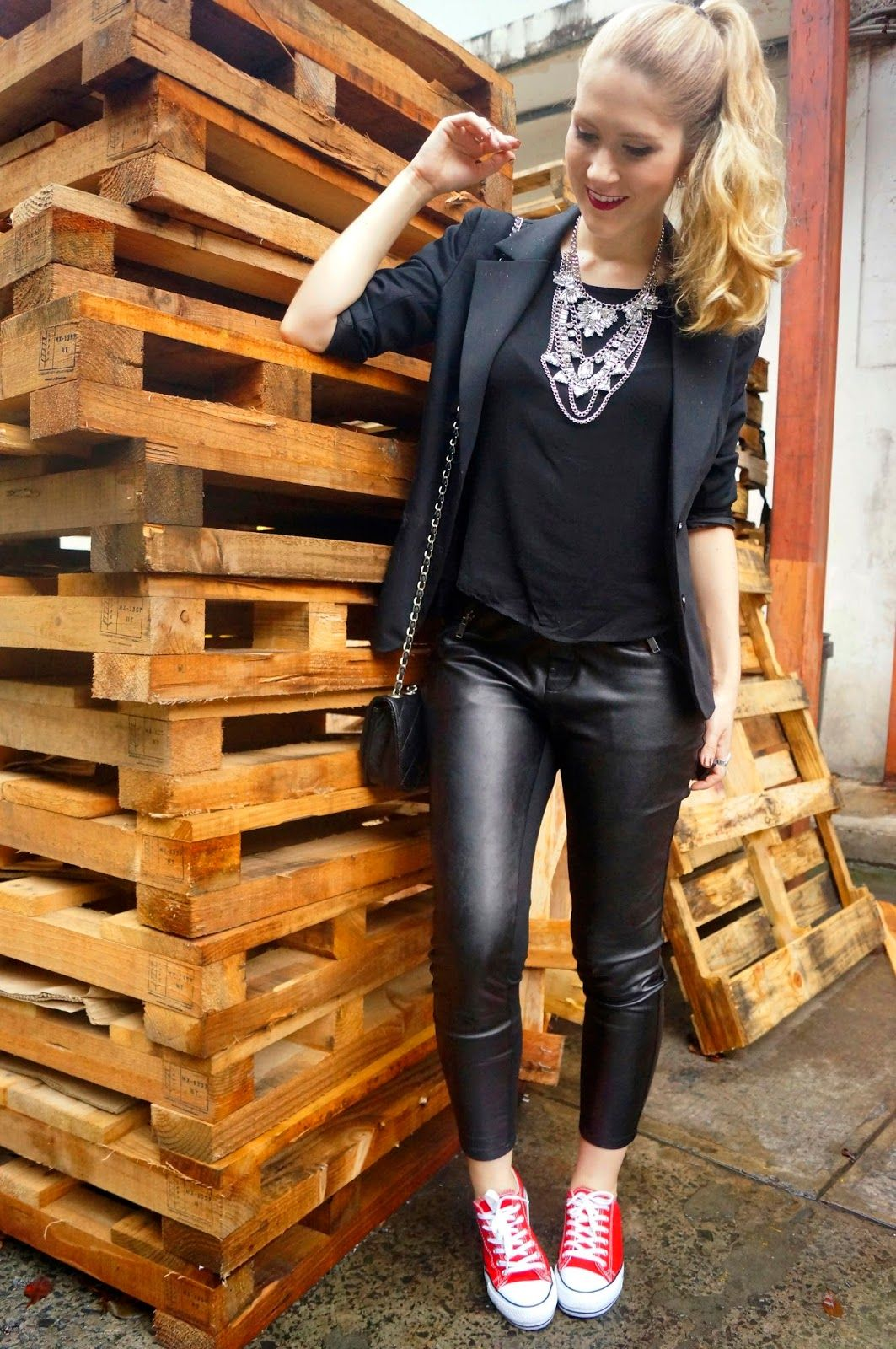 black leather pants outfit my personal style pinterest. Black Bedroom Furniture Sets. Home Design Ideas