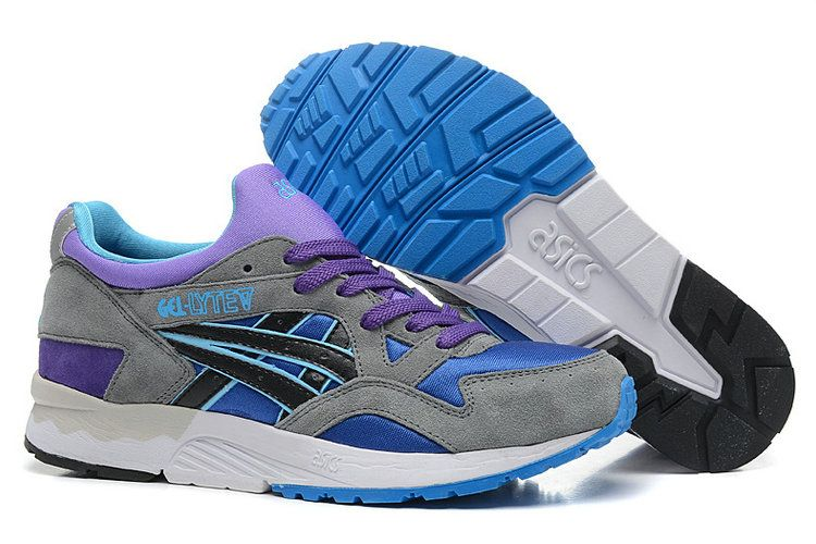 5b66952be72a Asics Gel Lyte V Mens Running Shoes Grey Blue Purple  onitsukatiger ...