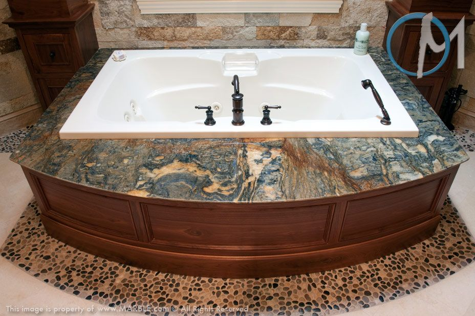 Blue Fire Granite In Jacuzzi Photo Gallery Hot Tub Surround Granite Popular Bath