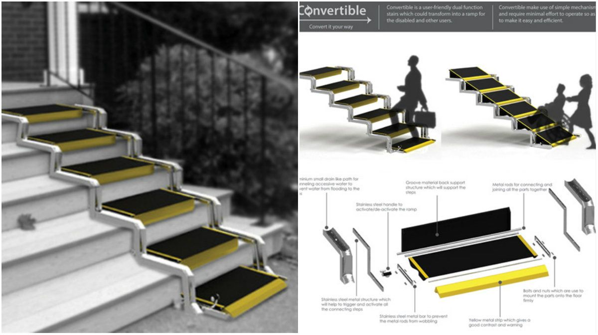 Convertible Stair Ramp Will Save Time And Energy For Building A Real Ramp  Access U2013 Architecture