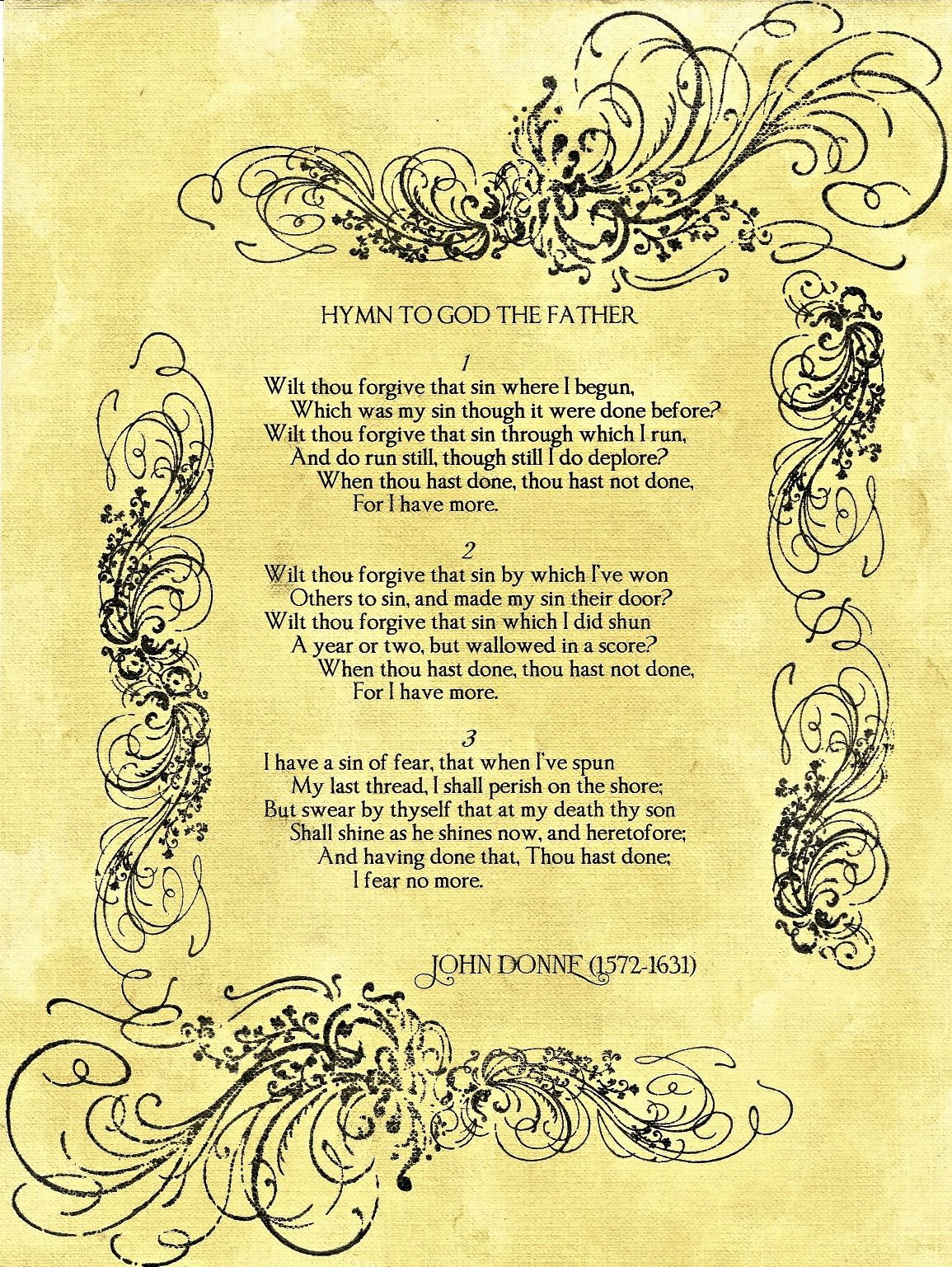 Hymn to God the Father by John Donne  my favorite poem