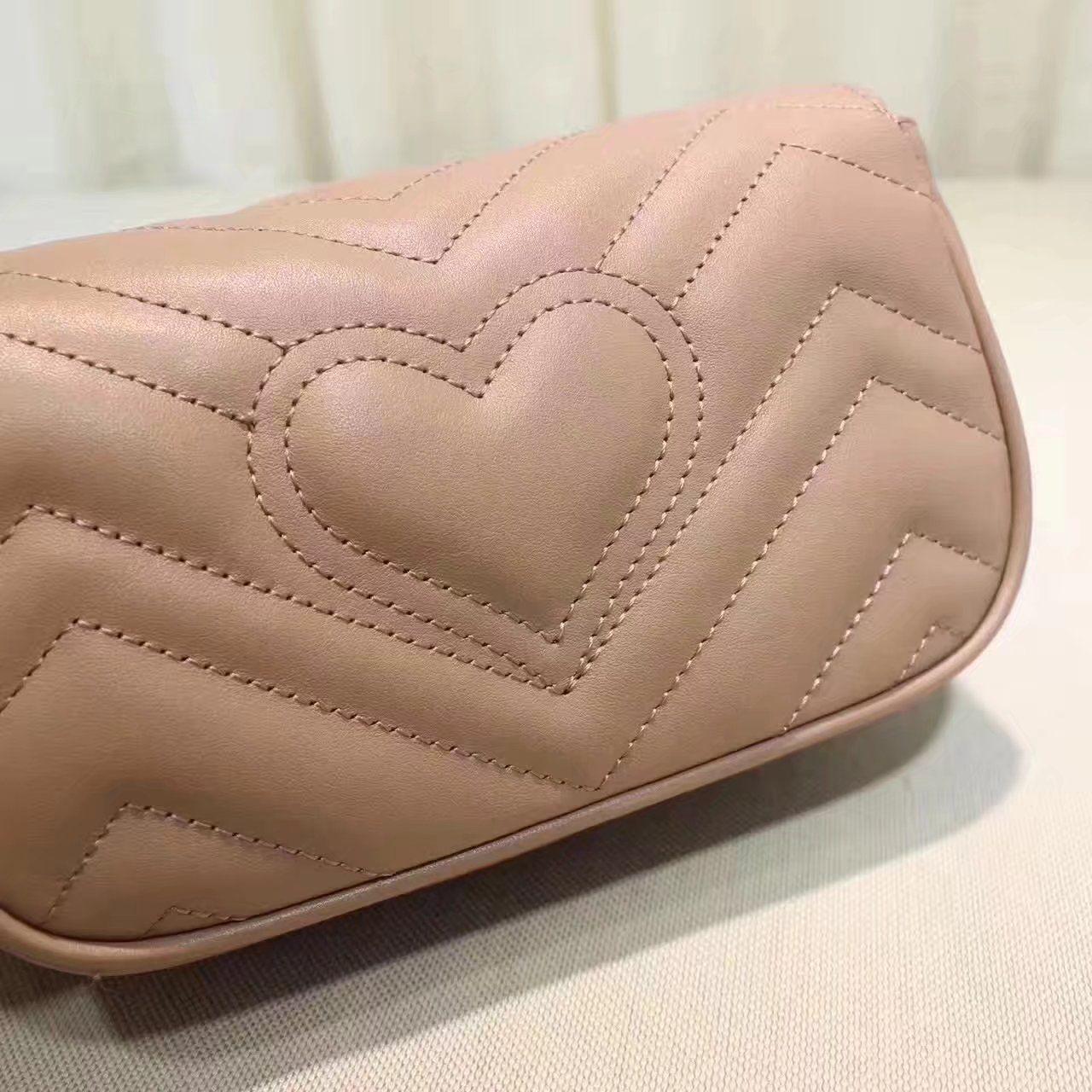dc8bb31d9b0 Replica GUCCI GG Marmont matelasse leather super mini bag nude ID 31677