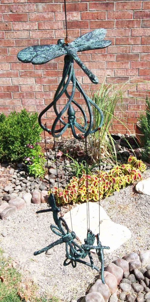 Cottage Garden Dragonfly Aluminum Resonant Relaxing Wind Chime