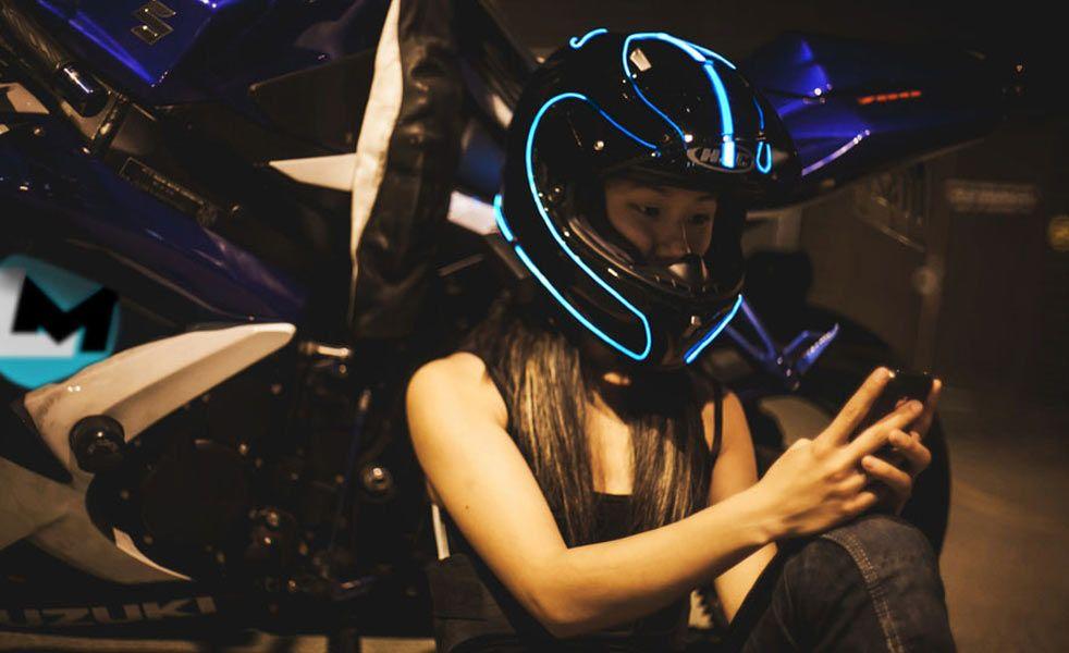 LightMode Helps Your Helmet Match Your Tron Bike | Helmets, Tron ...