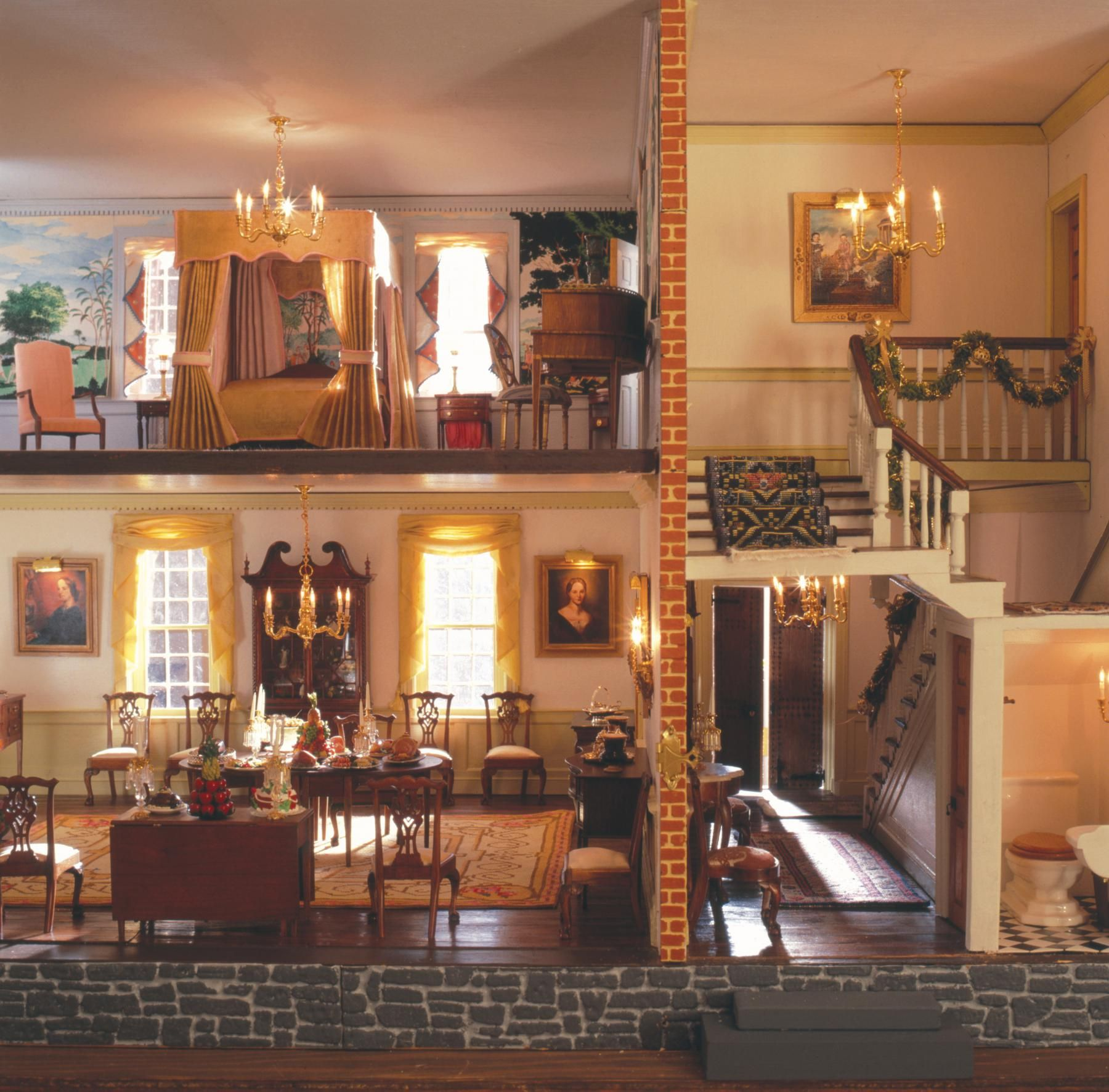 Elaborate Miniature Plantation House. Glen Burnie House | The Museum Of The  Shenandoah Valley