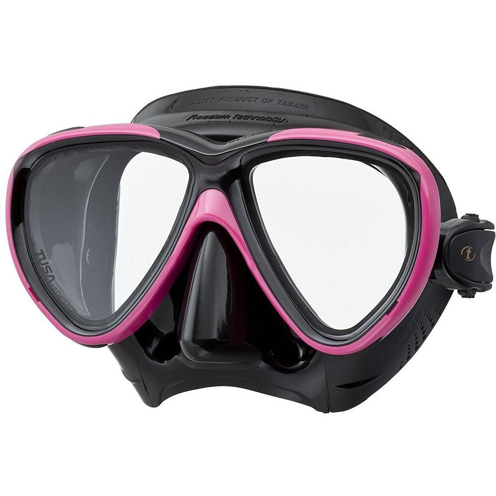 Tusa Freedom One Scuba Diving Mask Black Hot Pink In 2020 Scuba Diving Mask Dive Mask Diving