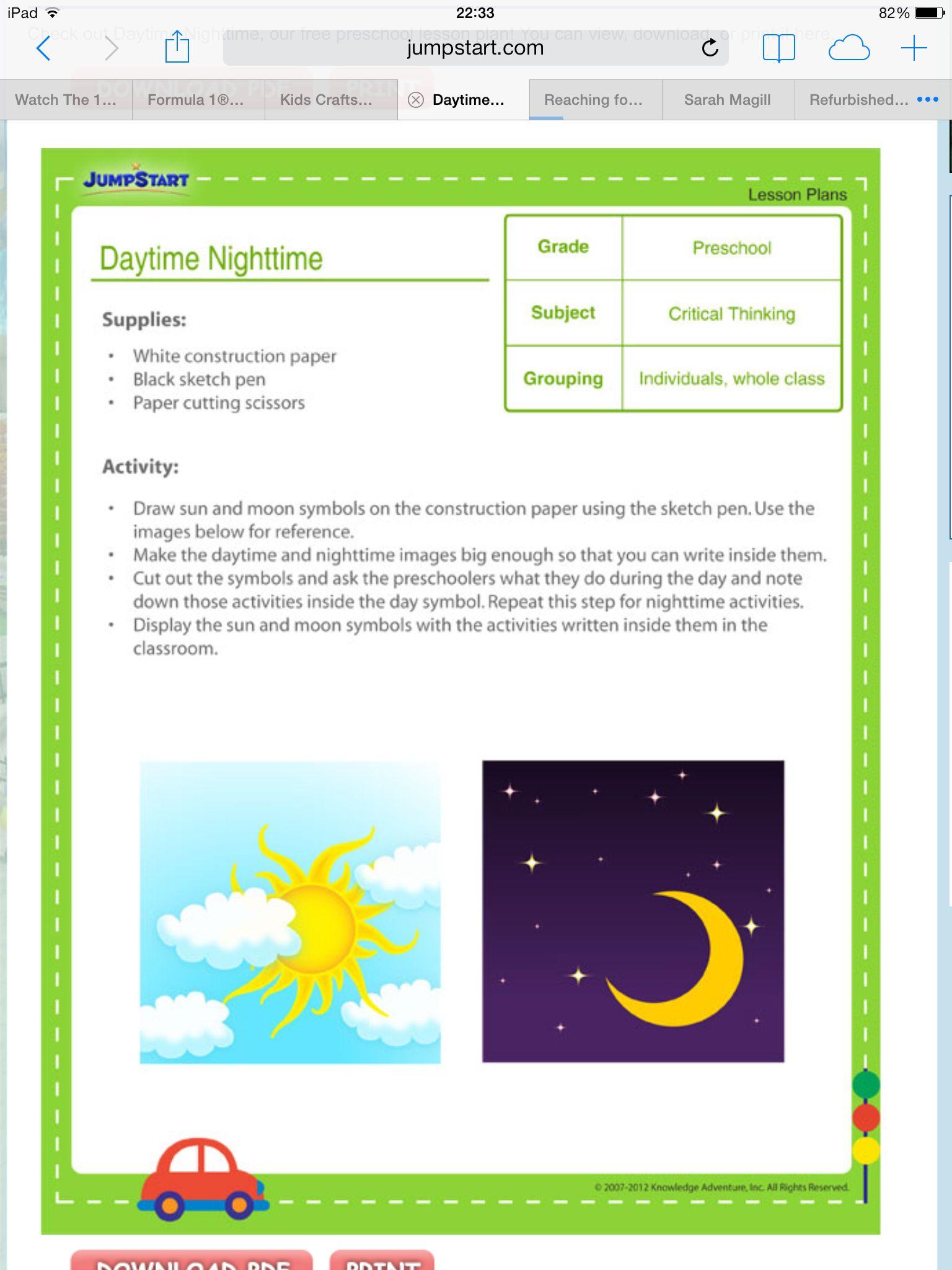 Daytime Nightitme Activity