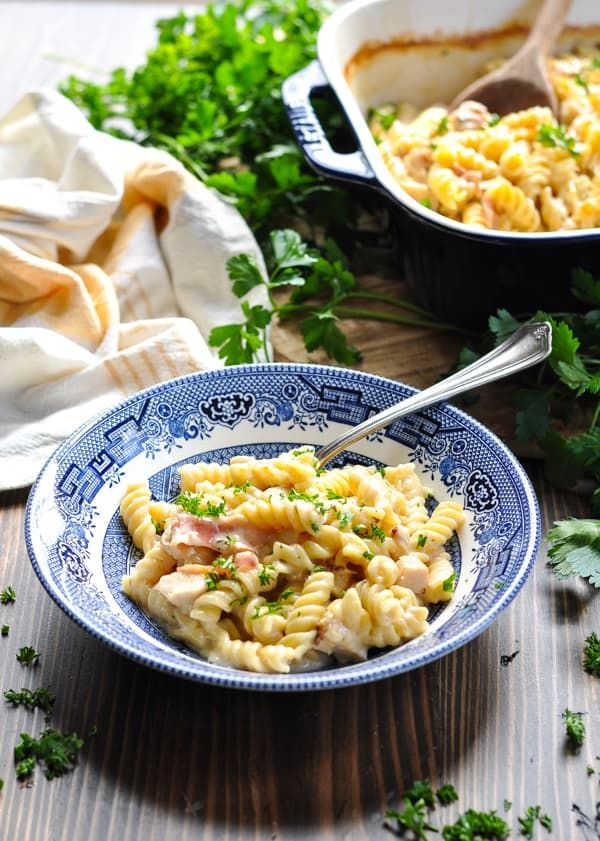 Dump-and-Bake Chicken Bacon Ranch Pasta images