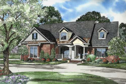 French Country Style House Plans 2975 Square Foot Home 2 Story 5 Bedroom And Country Style House Plans Traditional House Plans French Country House Plans