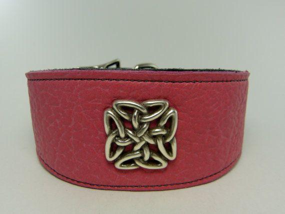 Soft Hot Pink Adjustable leather martingale by LongDogLeather, $42.00