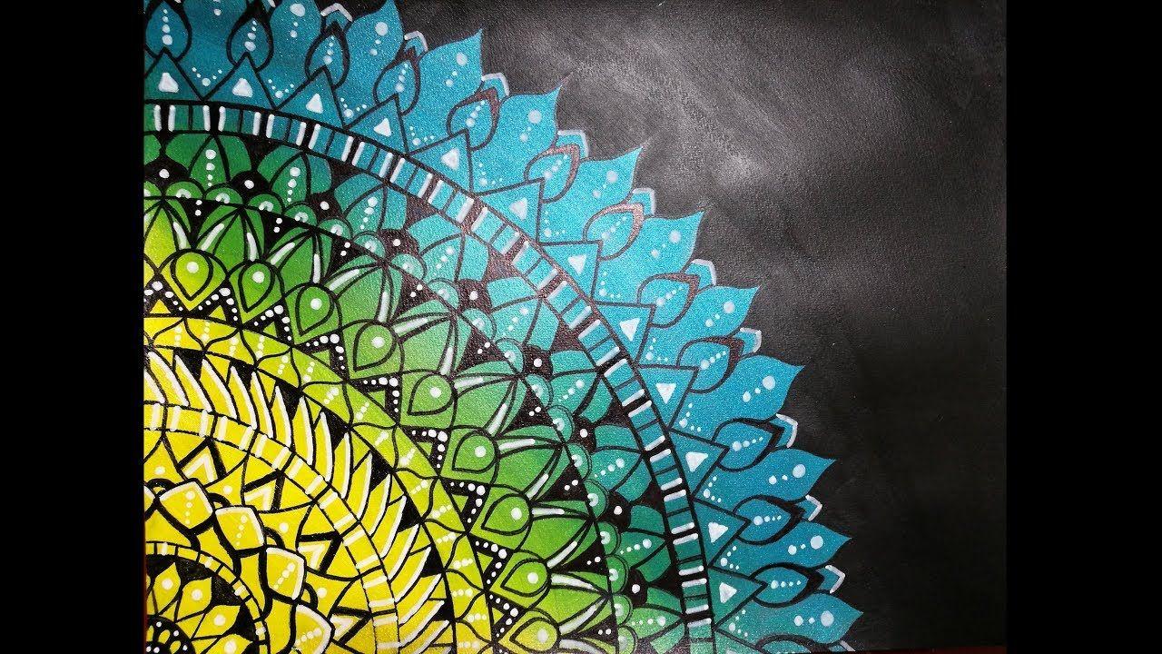 Mandala peinture acrylique facile d monstration de peinture pinterest peintures - Peinture facile a reproduire ...