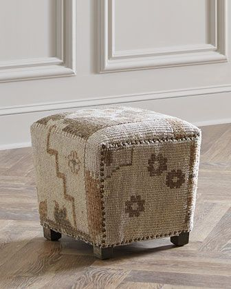 Bernette+Square+Kilim+Ottoman+by+Interlude+Home+at+Horchow. | all ...