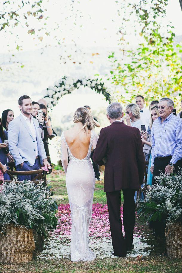 Ombre aisle | SouthBound Bride www.southboundbride.com Credit: Fiona Clair