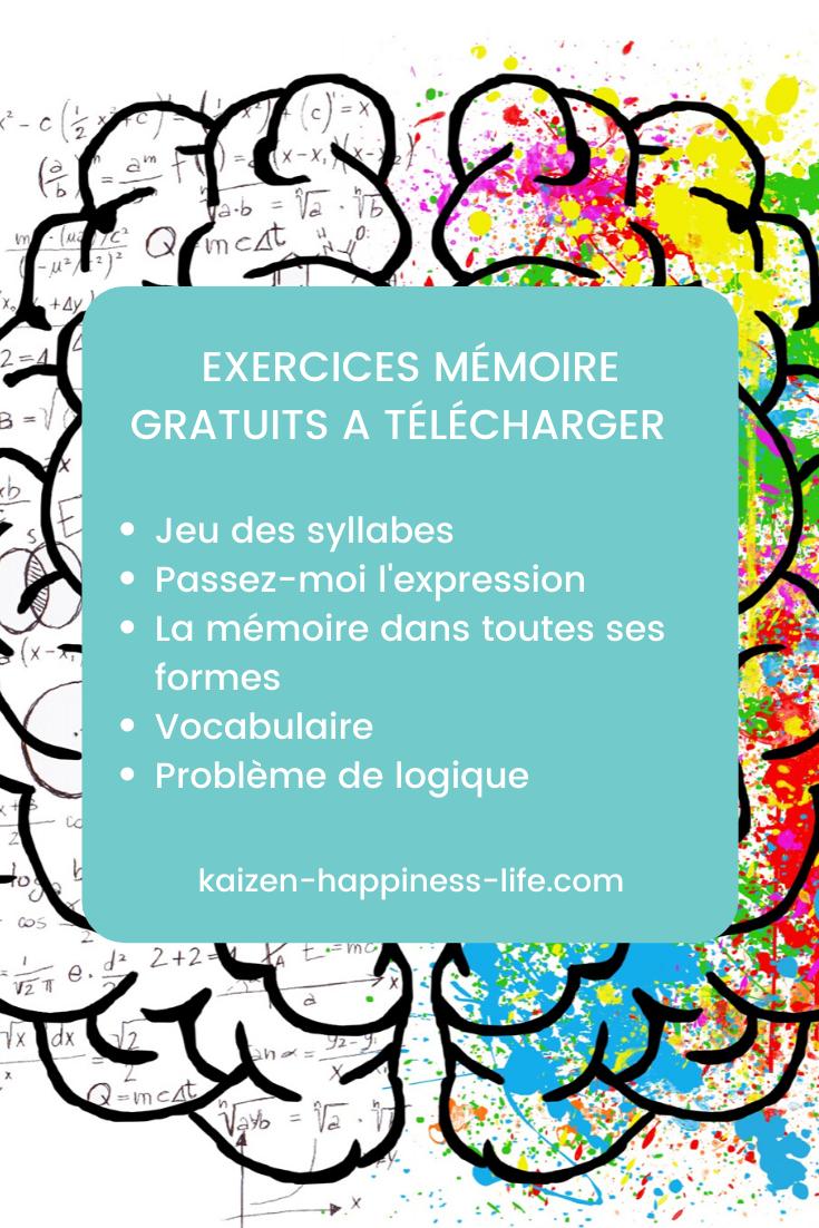 5 Exercices Memoire Exercice Memoire Activites Pour Seniors Atelier Memoire