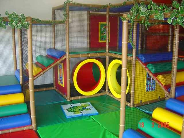 toddler play area on cushioned mats