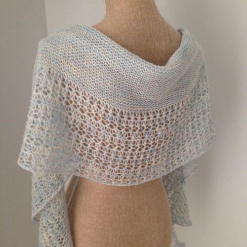 Knitting Lace Border : Rosewater pattern by janina kallio shawl stitch and