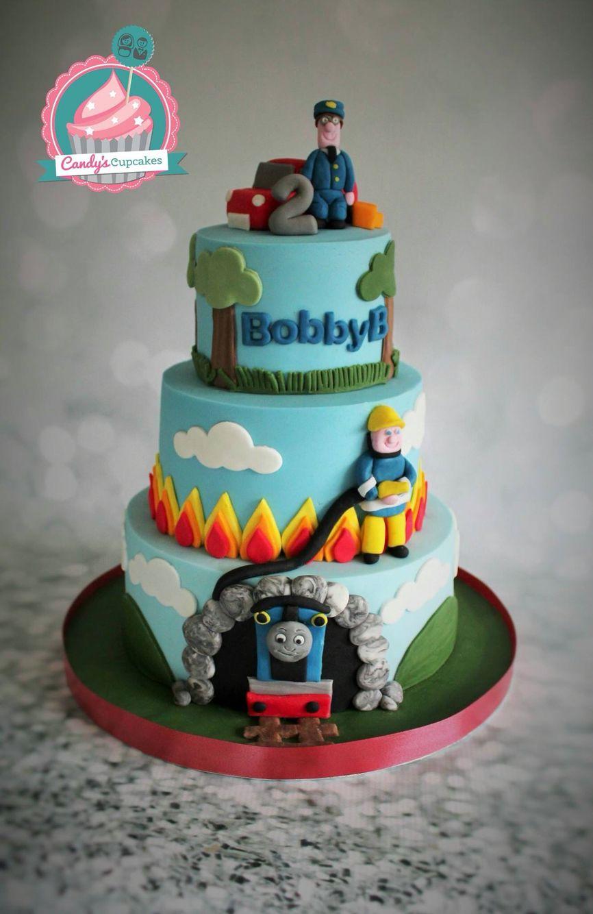 Thomas The Tank Fireman Sam And Postman Pat Cake By Www