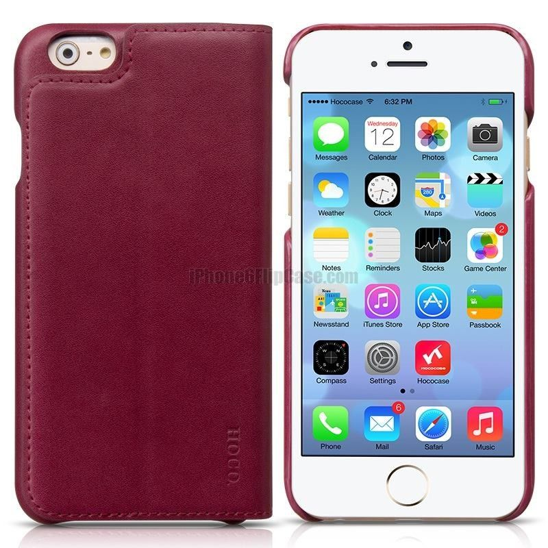 HOCO Luxury Series Genuine Leather Cover Case For iPhone 6
