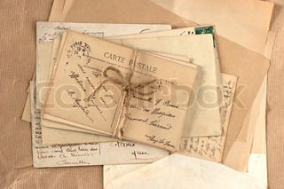 old letters and french postcards