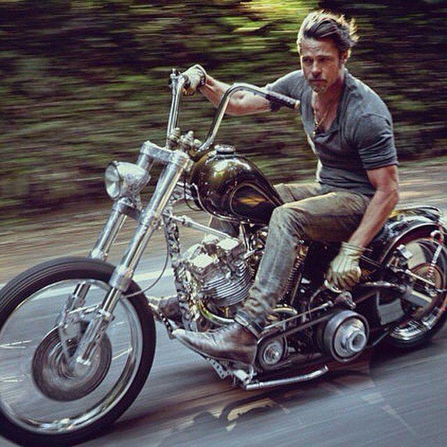 Old School Choppers Photo Brad Pitt Motorcycle Brad Pitt
