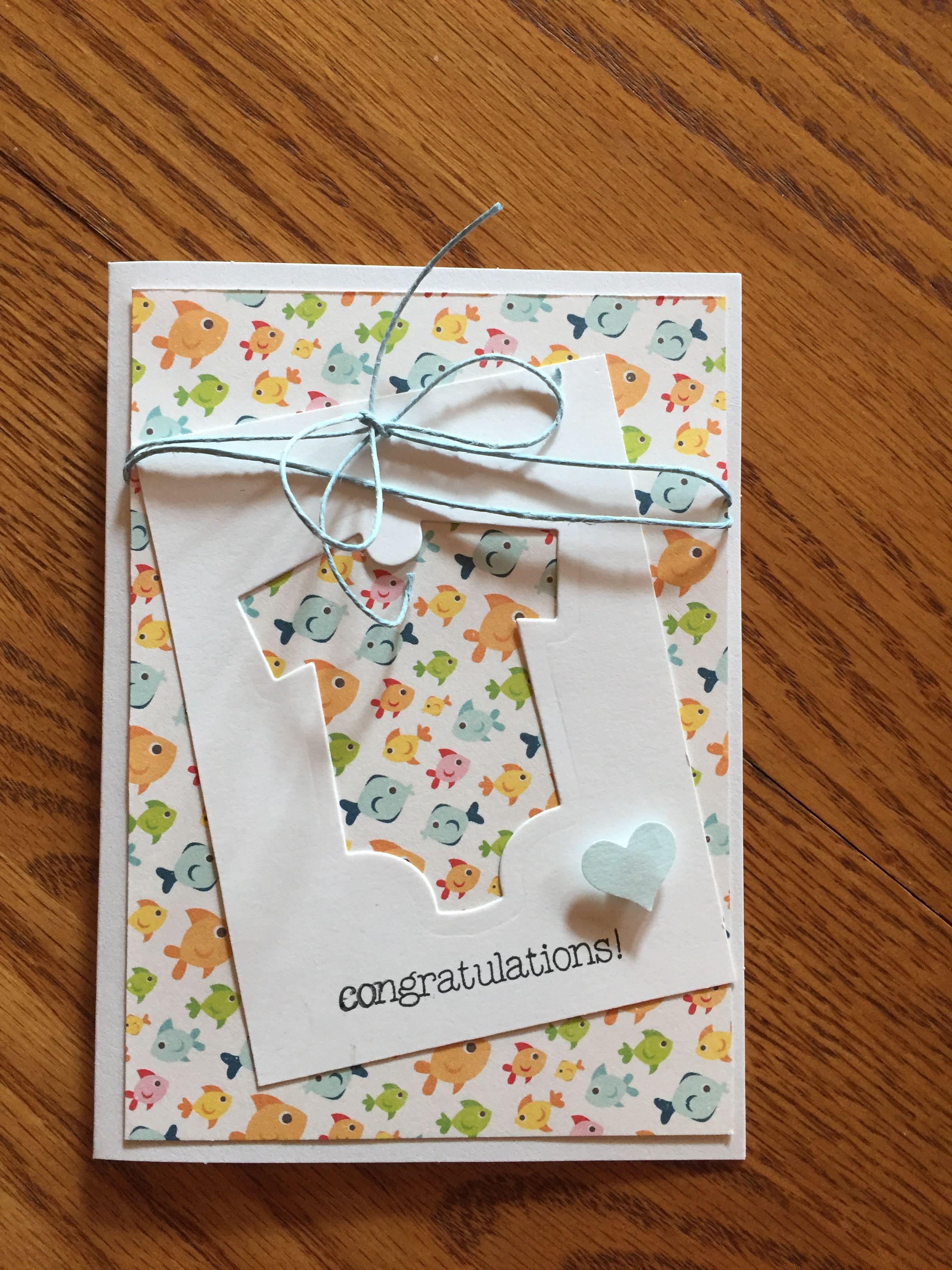 Congratulations Card Baby Cards Handmade Cards Handmade Congratulations Card