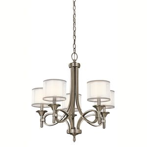 Kichler KK42381AP Lacey Mini Chandelier - Antique Pewter