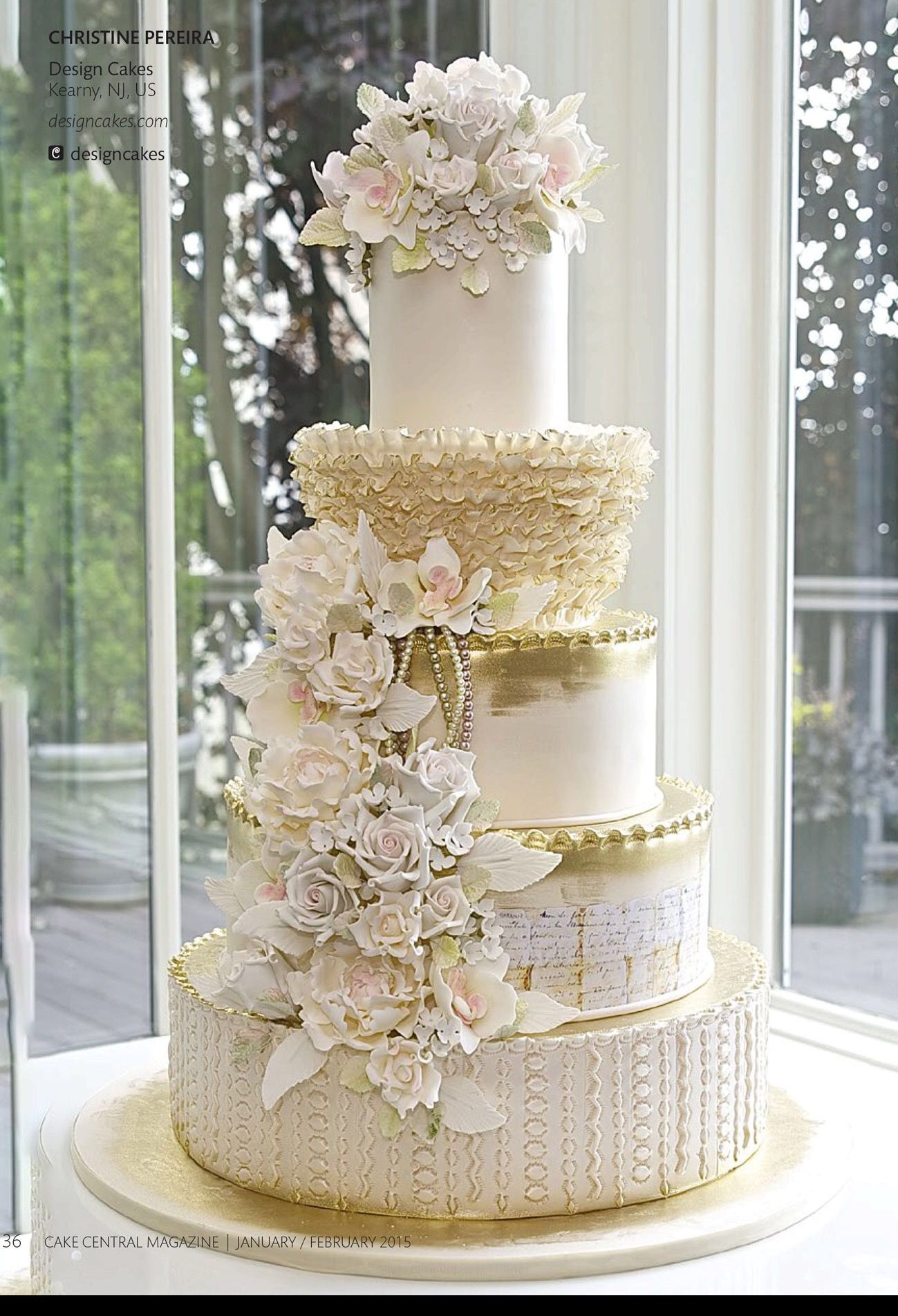Cake by Christine Pereira Designs Cakes | Kearney, NJ | Jan. 2015 | Volume 6 Issue 1 from CC Magazine