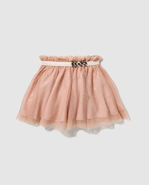 8e61a2d8ea Falda de niña Bass 10 en rosa de tul